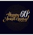 Happy Anniversary Calligraphic and Starburst vector image vector image