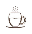 isolated abstract coffee mug icon vector image vector image