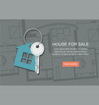 key with symbol of house project architect plan vector image