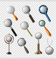 magnifying glass magnification zoom or vector image vector image