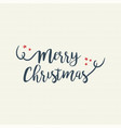 merry christmas quote text lettering vector image vector image