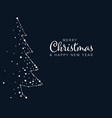 minimalist christmas flyercard template vector image vector image