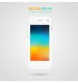 Modern touchscreen cellphone icon vector image