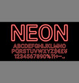 neon font in red color vector image