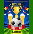 poster for soccer football sports pub vector image vector image