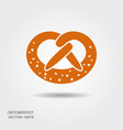 pretzel for oktoberfest isolated on white vector image vector image