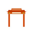 red taiwan arch icon flat style vector image vector image