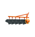 ripper machinery agriculture industrial farm vector image