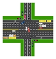 Road infographics Most of the highway vector image vector image