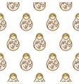 russian doll matryoshka light seamless pattern vector image