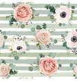 seamless floral watercolor pattern design vector image vector image