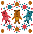 seamless pattern with childrens teddy bears vector image