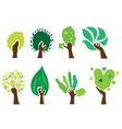 set of hand trees vector image vector image