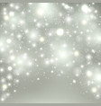 silver light background christmas design with vector image vector image