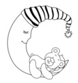 sleeping babear vector image