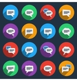 Speech bubble icons in flat style vector image vector image