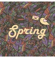 Spring hand lettering vector image