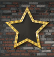 star with light bulbs vector image