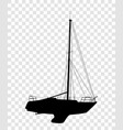 sticker on car with silhouette of the boat vector image vector image