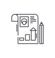student profile line icon concept student profile vector image vector image