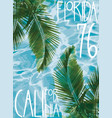 summer theme california florida grunge background vector image