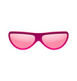 sunglasses icon pink sun glasses isolated white vector image vector image