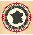 Vintage label-sticker cards of France vector image
