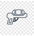 water gun concept linear icon isolated on vector image