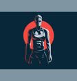 woman fitness emblem vector image vector image