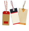 realistic tags in vintage style vector image