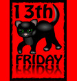 13th friday poster humorous flyer with a little vector image vector image