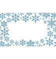 abstract christmas background winter frame with vector image vector image