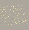 abstract golden glitter dots on brown pastels vector image vector image