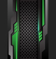 abstract green dark gray futuristic on circle mesh vector image