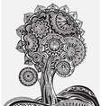Abstract ornamental magic tree with a lot of vector image vector image