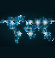 abstract world map with glowing dots vector image vector image