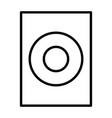 audio speaker thin line icon pictogram vector image