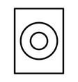 audio speaker thin line icon pictogram vector image vector image