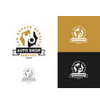 automobile car repairing logo mechanic vector image vector image