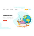 back to school landing page template set vector image vector image