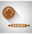 Bakery design bread icon seal stamp vector image
