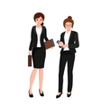 business woman in costume files and case office vector image vector image