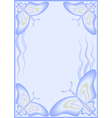 butterfly background light blue vector image