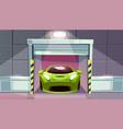 car garage parking lot roller shutters vector image vector image