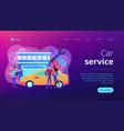 car service concept landing page vector image vector image