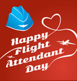 card day flight attendant vector image vector image