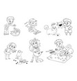 child care for cat vector image