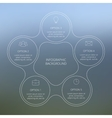 Circle line infographic vector image