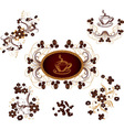 Coffee ornaments vector image vector image