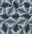 Cubic seamless pattern 3d background of squares vector image vector image